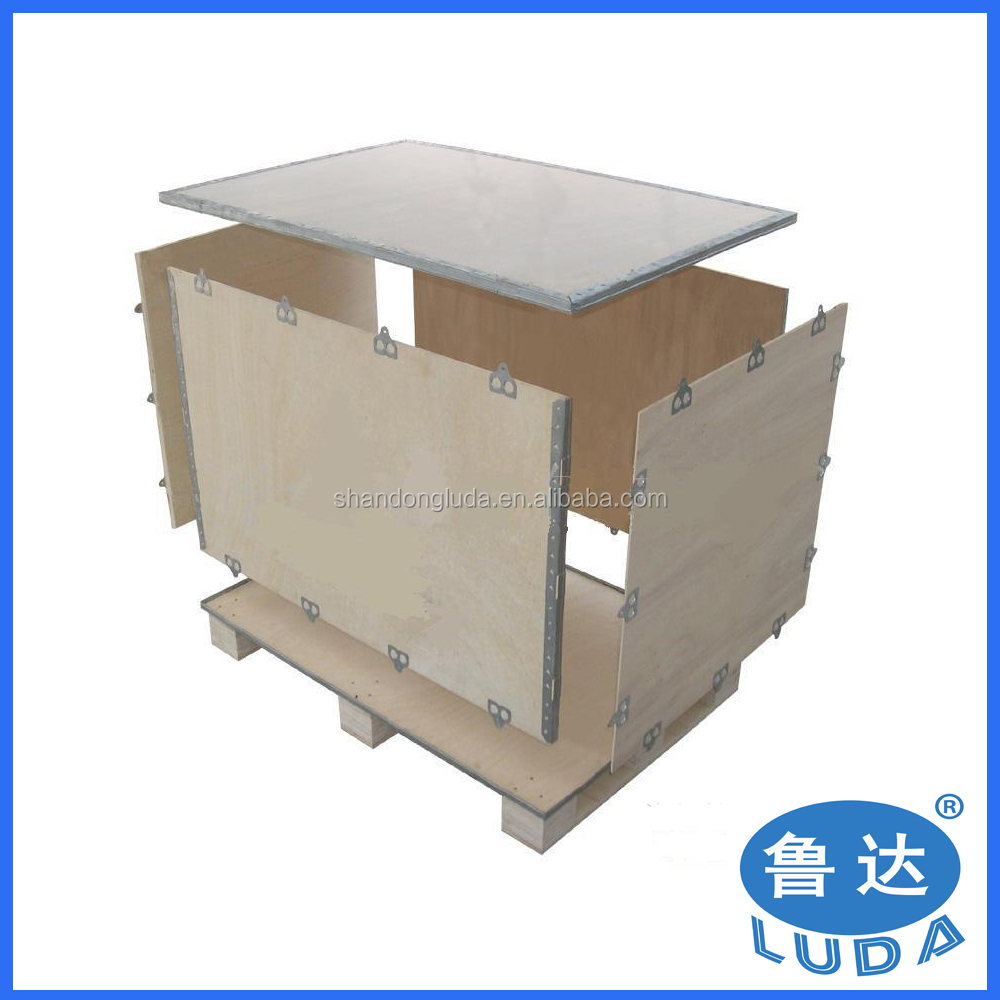 nailless collapsible plywood box