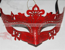 Factory Wholesale 2014 New Brief Red Sexy Woman Face Plastic Masquerade Dance Party Mask