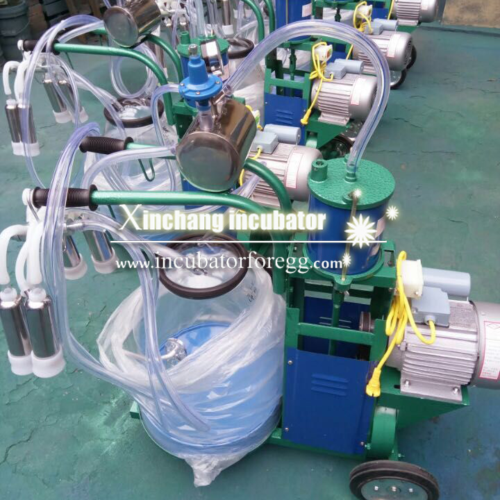 Factory price big promotion milking equipment for cows vacuum pump piston type milking machine