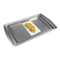 Customized professional 3-piece non-stick baking sheet pan baking tray sets with factory price