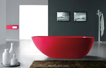 Vasca Da Bagno Rossa : Nuovo design bagno vasca da bagno ovale rosso senza saldatura