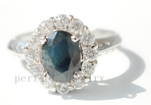 Free shipping Sapphire ring Natural and real Sapphire 925 sterling silver Fashion and fine rings #131