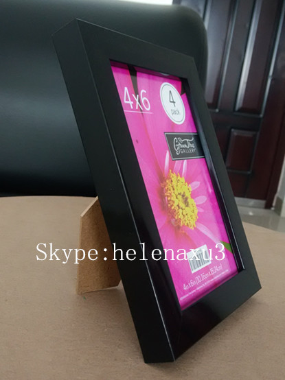 custom glossy black 5x7 PS picture frame ,PS photo frame,polystyrene foam photo frame