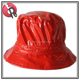 Silver And Red Waterproof Bucket Hat Rain Hat - Buy Bucket Hats ... aa6535747868