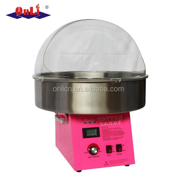 """Candy Floss Machine Cover Dome Opening Cotton Candy Maker Clear Bubble 20.5/"""" US"""