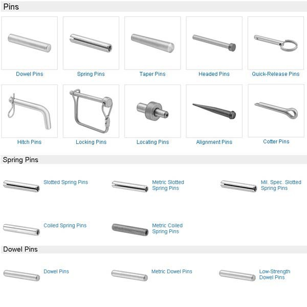 China Manufacturing High Quality Types Locking Pins