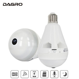 Hot selling WiFi IP LED Bulb Hidden Baby Monitor 360 Degree Panoramic Wireless CCTV Camera