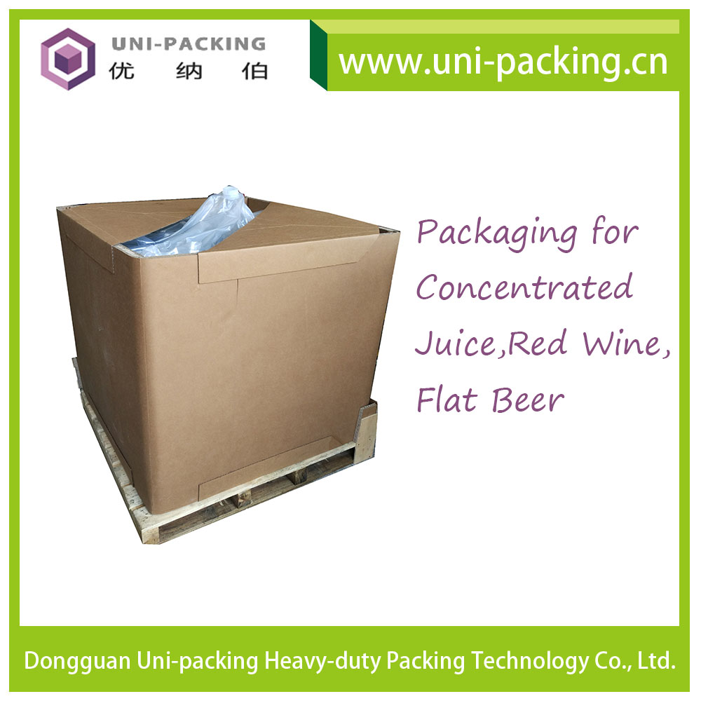 Recyclable Paper IBC Container Liquid Food Packing Square Corrugated Paper IBC <strong>Box</strong> for Liquid