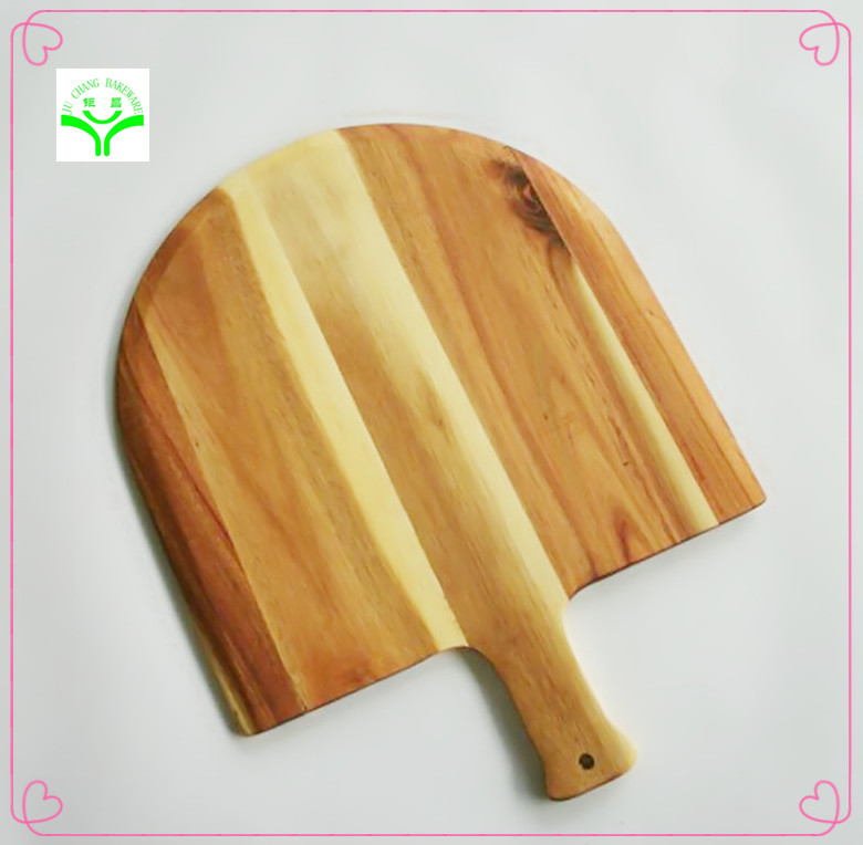 Branded promotional Bamboo Pizza Board Wood Pizza Peel for household