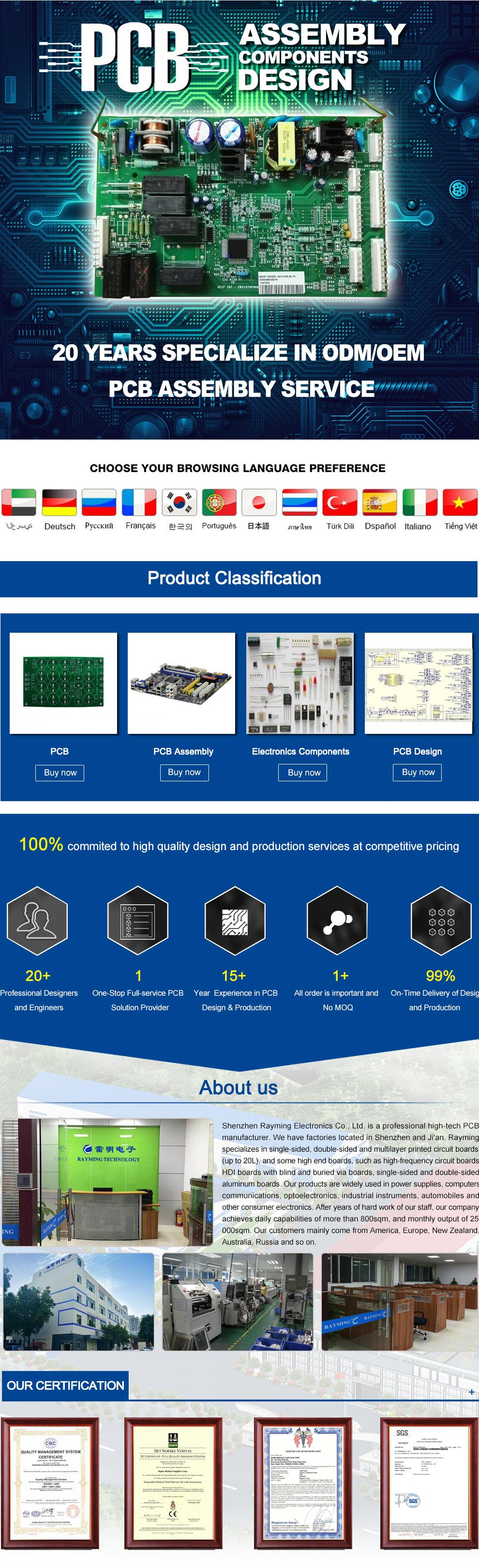 Shenzhen Rayming Electronic Co Ltd Pcbprinted Circuit Boards Blue Solder Mask Taconic Pcb Printed Board Manufacturing For
