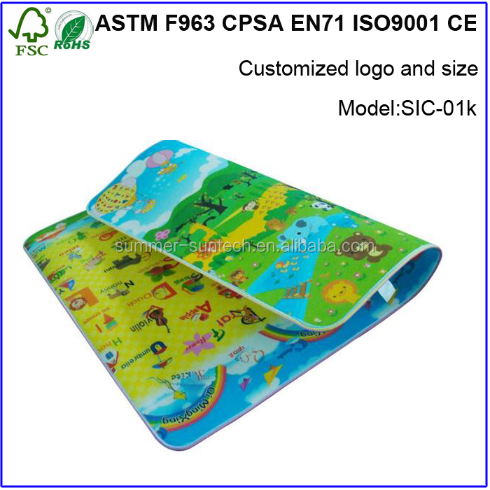 Eductional promote pvc eco-friendly inflatable baby care play mat