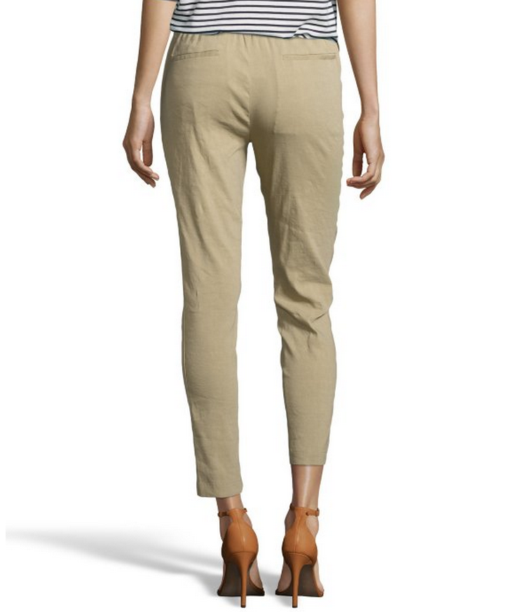 Khaki Pants. Khaki pants are a wardrobe basic for men, women and children. This versatile style is appropriate for casual wear as well as many dress occasions. Named for the Indian word for tan, the color of dust, and made of natural fibers such as cotton, wool and linen, this garment can vary in color from very light to dark.