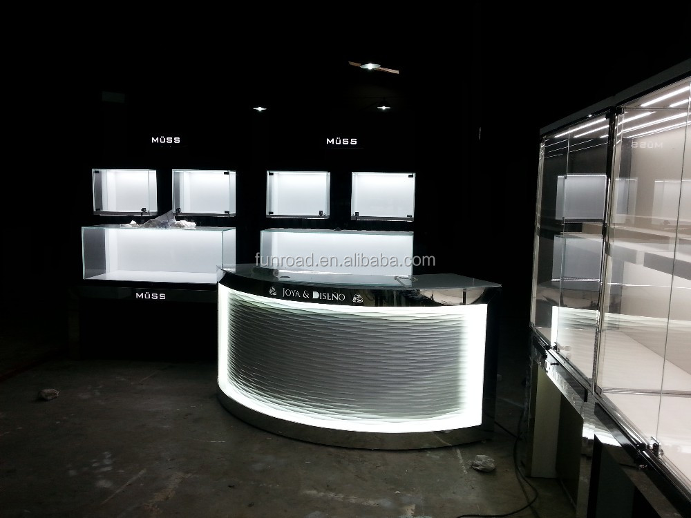 Top modern wood clothing shop cash counter design buy for New interior design products