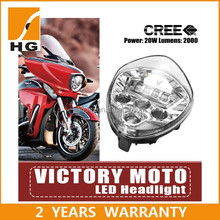 Victory Motorcycle BLACK LED Headlight in automobiles & motorcycles