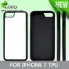 Sublimation blank 2D rubber material TPU case for iPhone 7