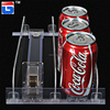 rail store clear display pusher for beverage