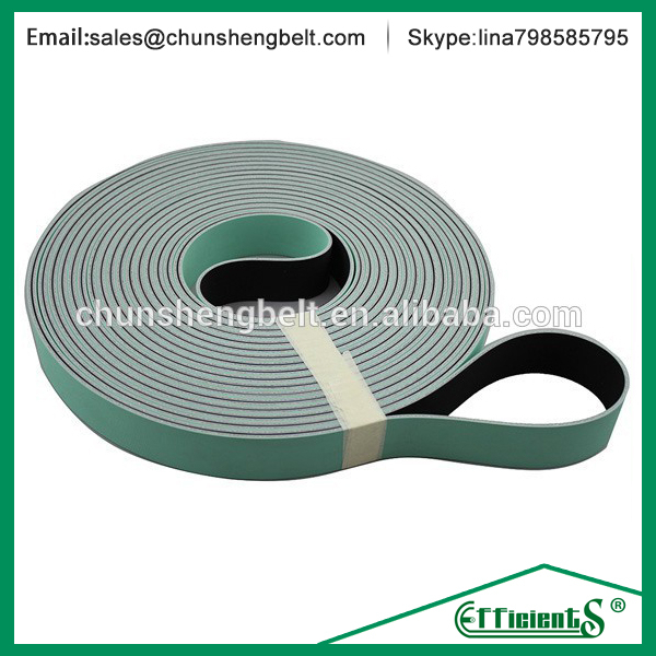 Light green/black rotor spinning frames tangential belt&polyester transmission belt