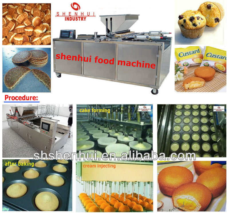 SH-600 cupcake muffin automatic cake making machine