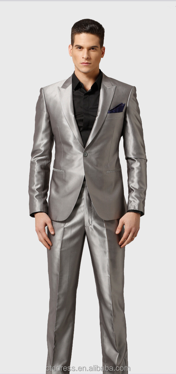Shiny Silver Business Man Suit - Buy Shiny Silver Business Man ...