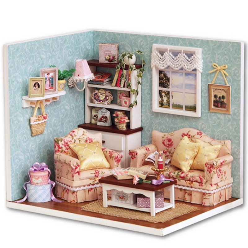 Handcraft DIY Wooden Miniature Dollhouse Furniture Kit