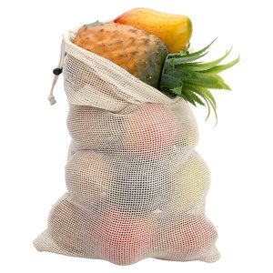 ECO NET SHOPPING CUSTOM POUCH GROCERY FOR VEGETABLES FRUIT 100 ORGANIC COTTON MESH DRAWSTRING REUSABLE FOOD PRODUCE BAGS