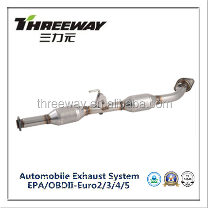 Euro 3 Euro 4 middle catalytic converter for Toyota Hilux