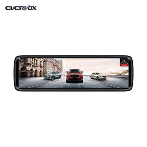 Touch screen full size reversing camera recorder, rearview car mirror dash cam with ADAS