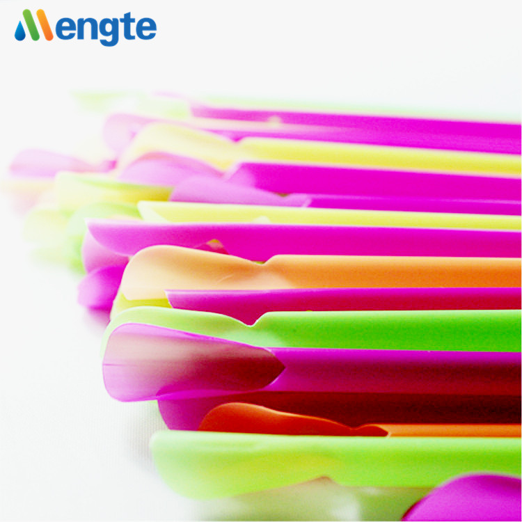 Newest design colorful spoon drinking straws with tea spoon