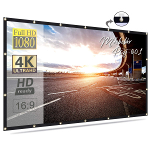 High Gain Fast Folding soft White 120 Inch 16:9 projector screen for home theatre