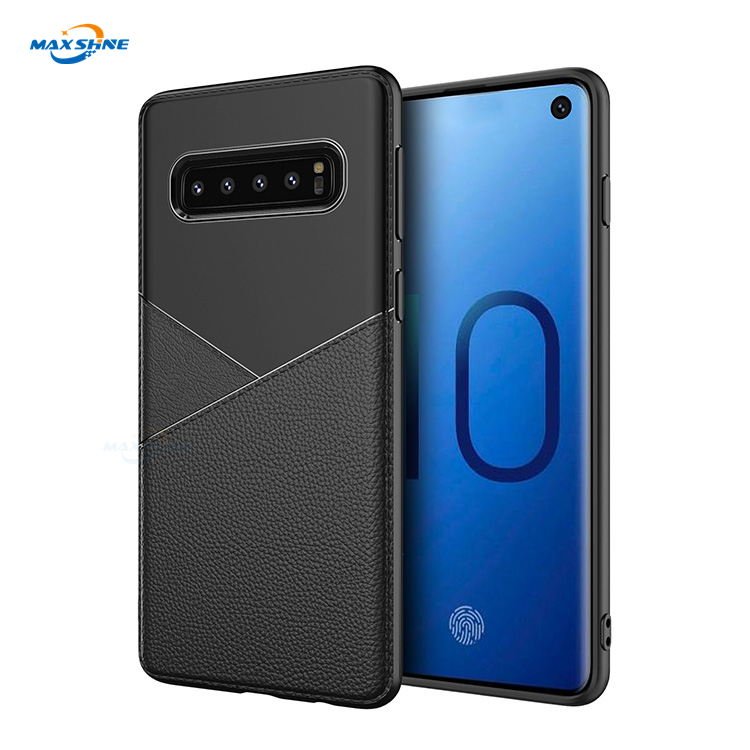 Maxshine Business Protective Shockproof Tpu Genuine Leather Tpu Cell Mobile Phone Case Cover For Samsung Galaxy S9 S10 Plus Lite