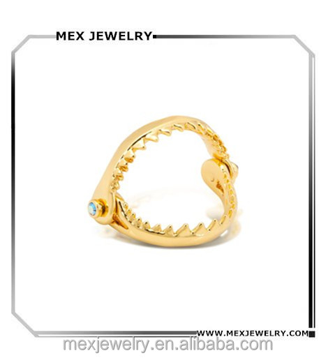 18K Gold Little Mermaid Ariel Shark Tooth Ring