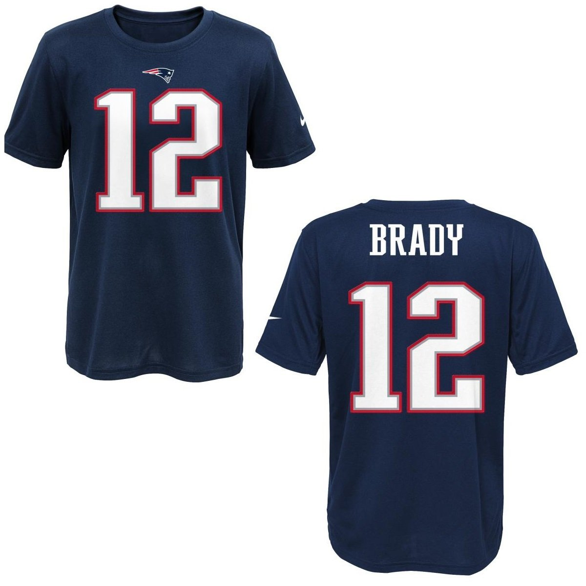 aa300597a Get Quotations · New England Patriots Tom Brady Blue Youth Nike Player Pride  Tee2 T-Shirt (Youth