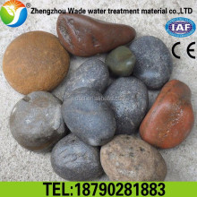 supply of natural river rock with polished white round pebble stone