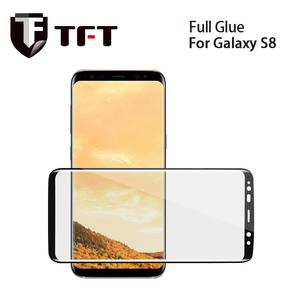 TFT New arrival phone full glue screen protector galaxy s8 tempered glass