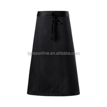 Custom cooking high quality waist cotton apron with one pockets