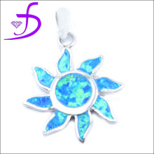 Wholesale delicate newest design jewelry sun shape silver opal pendant