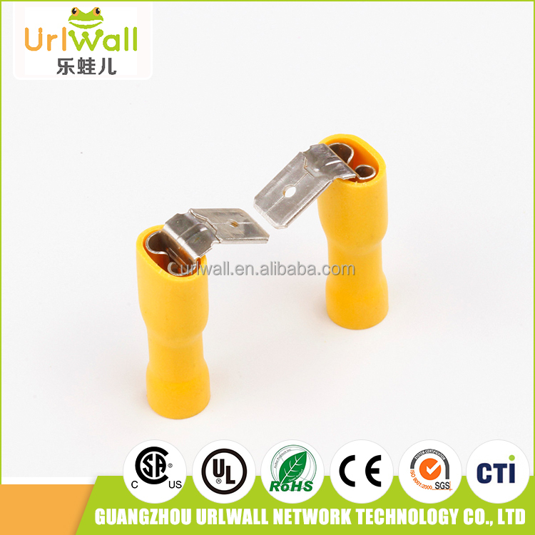 100pcs yellow fully insulated wire connectors cable joint kits terminal connectors