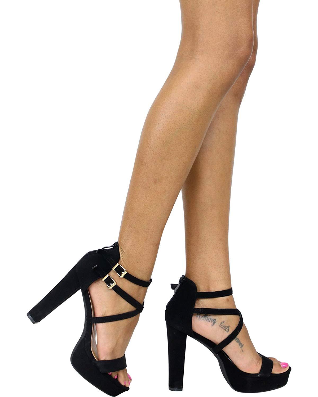 Get Quotations · Top Moda Women s Platform Chunky Heels 6930bd9d0