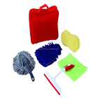 7pcs car care set/ glass scraper/water pipe/cleaning cloth/sponge