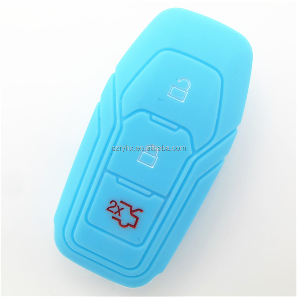 Promotion silicone remote control key case for mondeo key case , special design mini silicone car key case