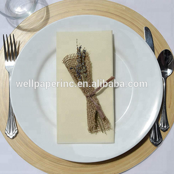 Cream color Dinner Napkins Disposable, PLUM, Cloth Like Elegant, yet Heavy Duty Soft, Absorbent & Durable 16x16 ''