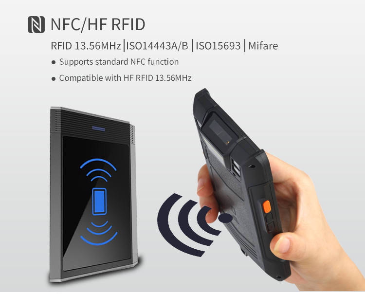 5 inch N6603 Scanner 2G+16G +Camera+5000mAh Android PDA touch screen handheld 2d barcode scanner