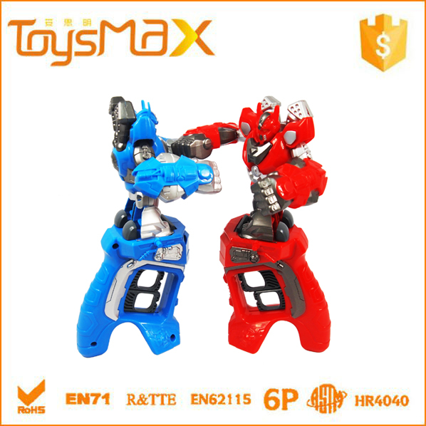 New Arrival ! Educational Blue&Red ABS Competitive Finger Ring King Boxing Fighting Robot Kit Toy