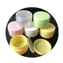 10 ml runde kunststoff hautpflege creme container glas 10g reisen kosmetik pulver lagerung jar leere make-up foundation flasche jar