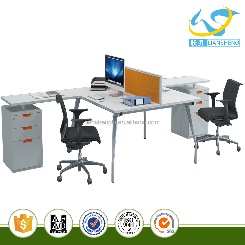 High quality workstation stainless steel frame office furniture for 4 persons workstation