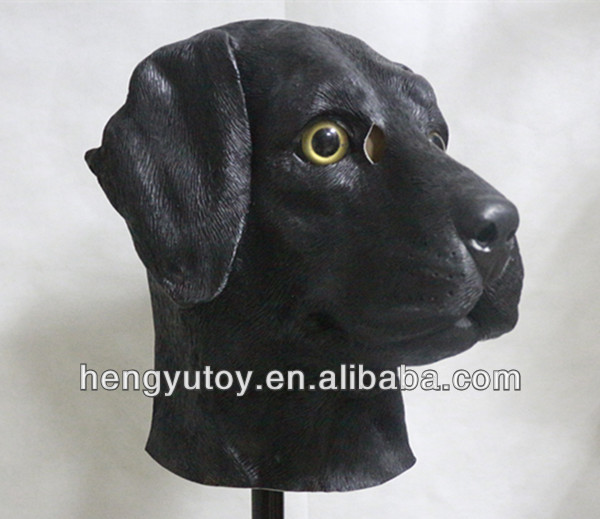 Top highest selling Animal Costum Fancy Dress latex dog head mask for Carnival