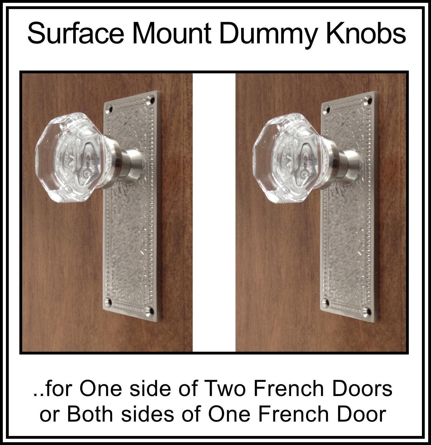 Get Quotations · Finest FRENCH DOOR Sets 24% Lead Crystal Old Town Knobs  With HAND FORGED. 5