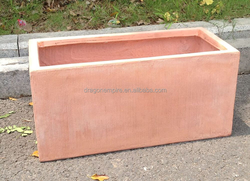 Wholesale Fiberglass Clay Planters For Garden Fiberglass Window