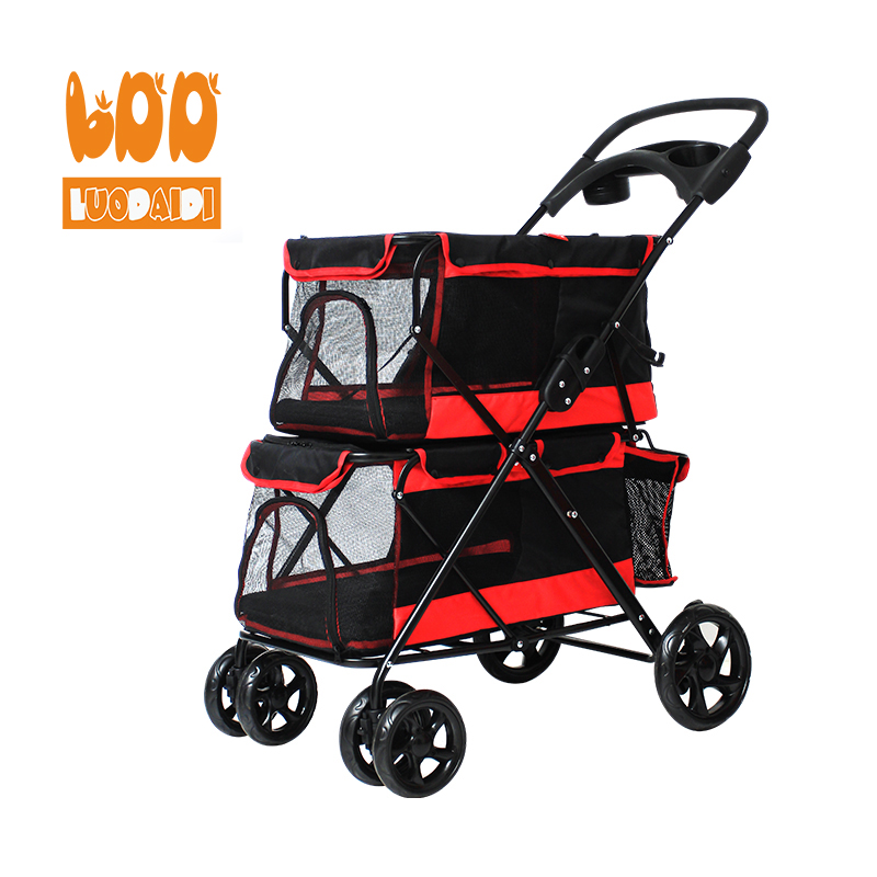 Doppel hund kinderwagen haustier hund kinderwagen china pet reise trolley