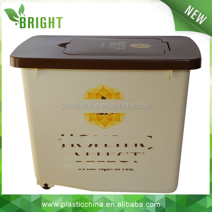 H509 12KG 30liter Pet food cat dog puppy food storage container, bpa-free <strong>plastic</strong>